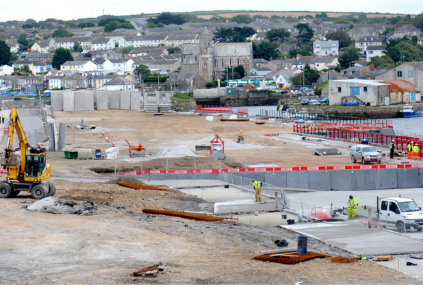North Quay, Hayle, photographed during 2012 when the site was owned by ING Real Estates